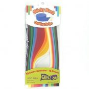 Quilling papírcsík technológia - Quilling színes papír csíkok Multi Colour 12 szín 3mm