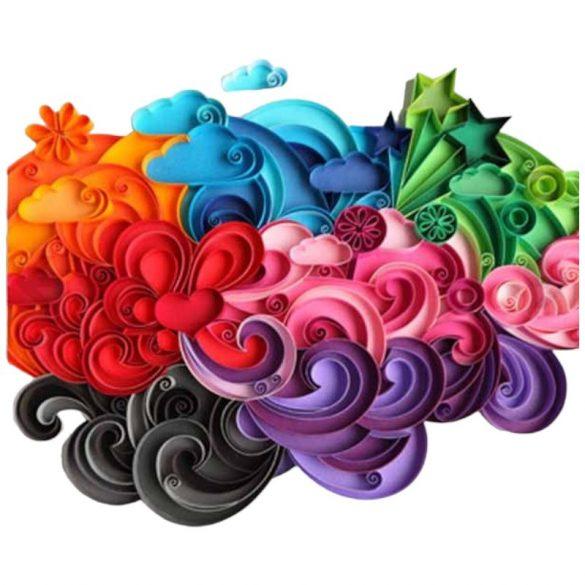 Kreatív Hobby - Quilling papírcsík technológia - Quilling 1200 darabos csomag