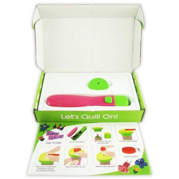 Quilling papírcsík technológia eszközök - Quilling-Papírsodró eszköz pink