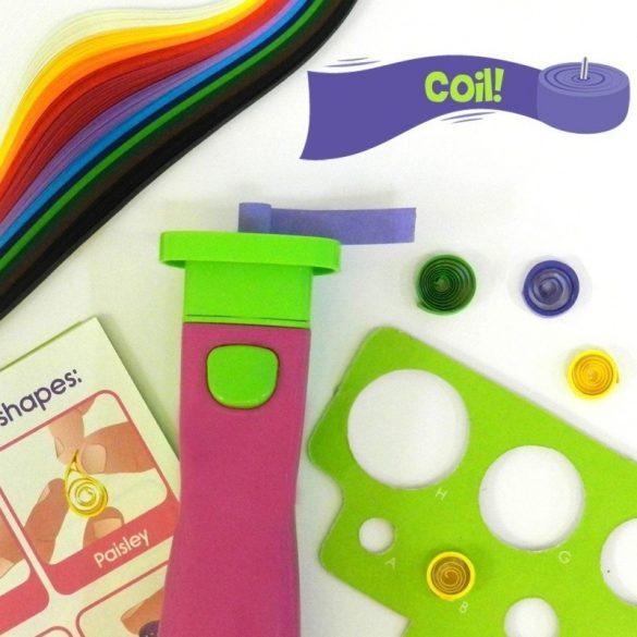 Kreatív Hobby - Quilling papírcsík technológia - Quilling szett pink