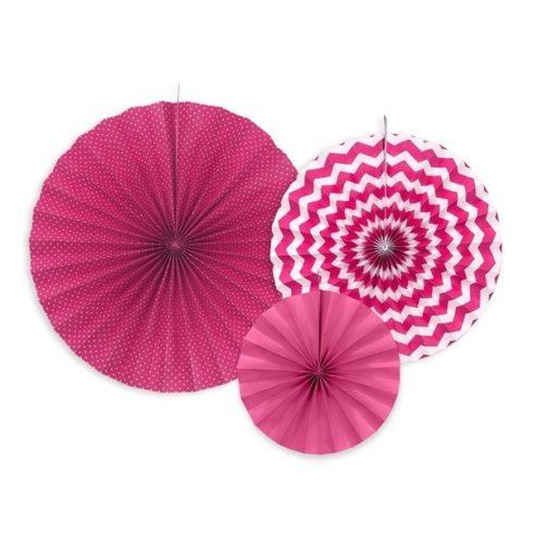 Party kellékek - Körlegyező szett pink