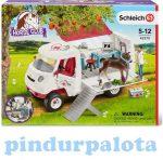 Szerepjátékok - Schleich Horse Club - Mobil állatorvos hannoveri csikóval