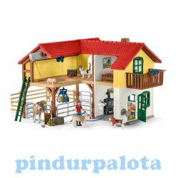 Schleich figurák - Schleich falusi ház istállóval és állatokkal
