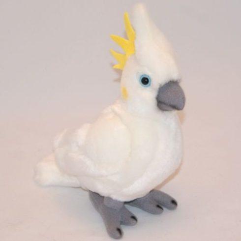 Plüss Kakadú - fehér 23cm