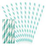 Party kellék - Szívószál papír kék