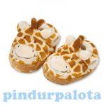 Puhatalpú babacipők - Teddykompaniet - Zsiráf baby cipő 12 cm