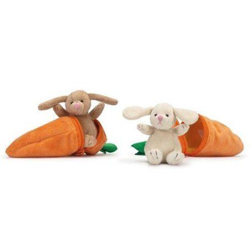 Teddykompaniet - Plüss nyuszi répában