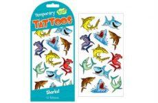 Bőrre ragasztható matricák - Matrica tetoválás cápák