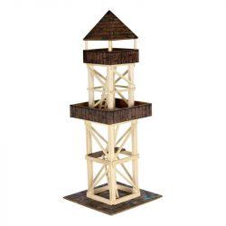 Építőjátékok gyerekeknek - Fából - Kilátó torony, összeépíthető fajáték makett, Walachia