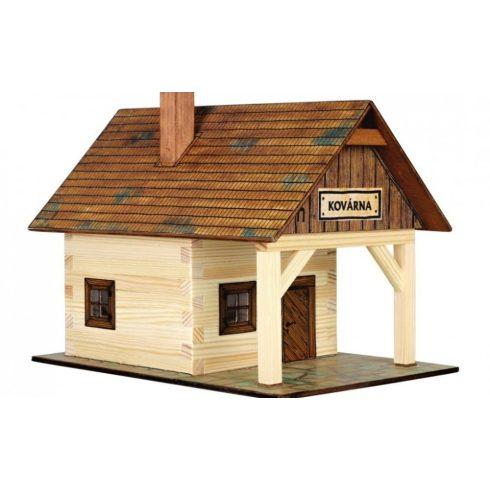 Ház építős játékok - Kovácsműhely makett fából