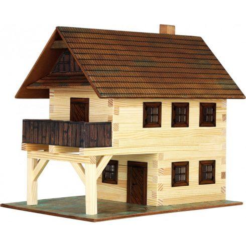Barkácsolós játékok fiúknak - Ház építős játékok fából Városház makett