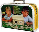 Fa építő játékok - Vario 91 db-os építőkészlet bőröndben