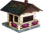 Építőjáték - Építős játékok - Ház építős játék fából Alpesi faház
