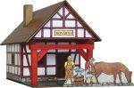 Építőjáték - Építős játékok - Városépítős játékok Faházas kohó