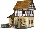 Építőjáték - Építős játékok - Építős játékok Faházas Vízimalom makett