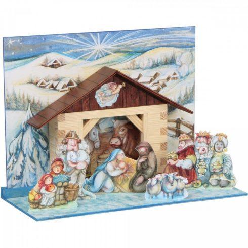 Karácsonyi kreatív játékok - Fa Betlehem építőjáték Walachia