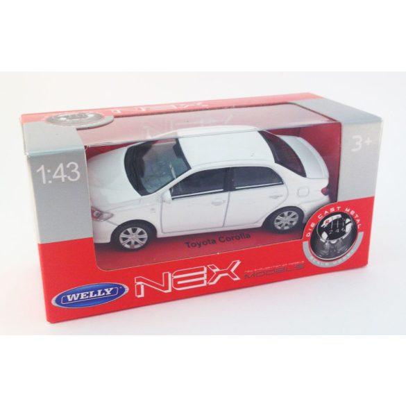 Welly NEX - Kisautó - 1:43 - Toyota Corolla fehér 128/32