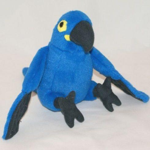 Plüss Papagáj - kék 20cm
