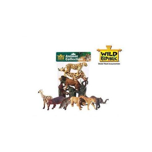 Szerepjátékok - Figurák - WILD REPUBLIC - Müanyag állatfigurák Afrika 6db-os