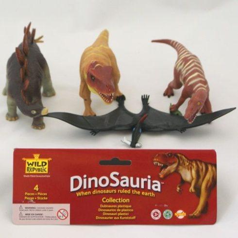 Szerepjátékok - Műanyag állatfigurák - Dínó müanyag állatok 22cm 4db