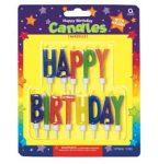 Party kellékek- Happy Birthday Felirat  Tortagyertya
