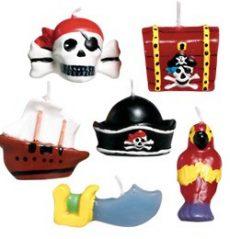 Party kellékek- Kalózós Pirate Party Mini gyertya