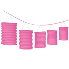 Esküvői dekor - Rózsaszín lampionfüzér