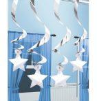 Party kellékek - Party dekorációk - Ezüst csillagos függő