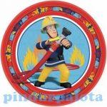 Party kellékek - Sam a tűzoltó tányér
