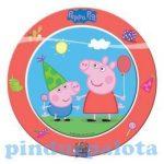 Party kellékek - Peppa Pig parti tányér