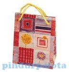 Party kellékek és ajándéktasakok - Virágos ajándékzacskó mini