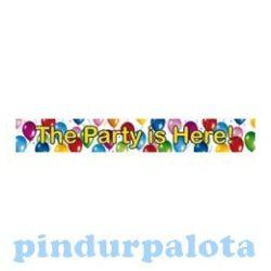 Party kellékek és dekorációk - The Party is here Banner