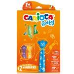 Írószerek - Carioca Színes macis bébi filctoll 12db-os szett kimosható