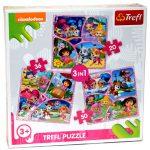 Gyerek Puzzle - Kirakósok - Nickelodeon Junior 3 az 1-ben puzzle - Trefl