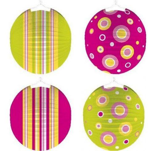 Party kellékek és dekorációk - Mintás gömb lampion