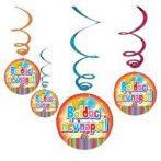 Party kellékek - Party dekorációk - Boldog Névnapot függő 6db