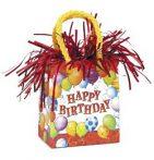 Party kellékek - Léggömbsúlyok - Happy Birthday ajándéktasak