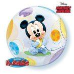 Party kellékek - Bubbles lufik - Baby Mickey kisbabaszületésre