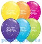 Party kellékek - Latex lufik - Birthday shinging star11 inch