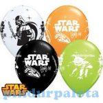 Lufik - Luftballonok - Star Wars - Darth Vader & Yoda Special Assortment Lufi (6 db/csomag)