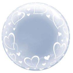 Party kellékek - Bubbles lufik - Szives bubbles lufi
