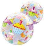 Party kellékek - Bubbles lufik - Muffin mintás bubbles