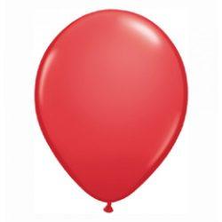 Party kellékek - Latex lufik - Piros lufi 10 db-os
