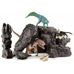 Schleich készletek - Dinoszaurusz készlet barlanggal