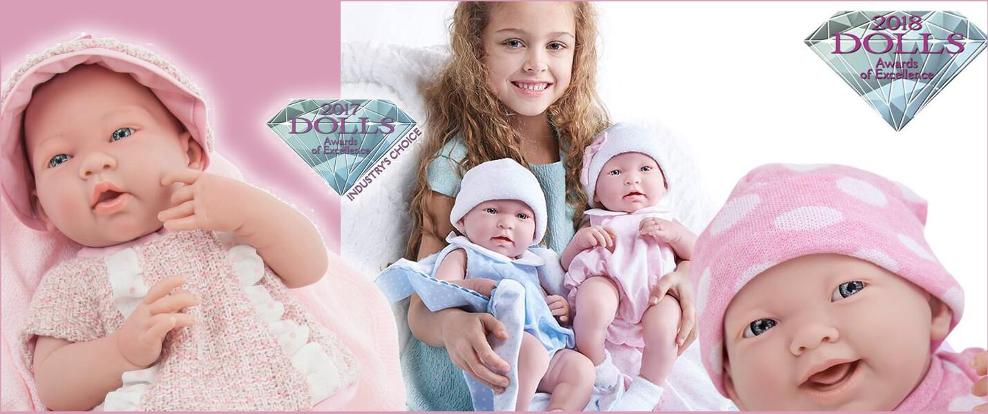 Berenguer minőségi díjnyertes játékbabák