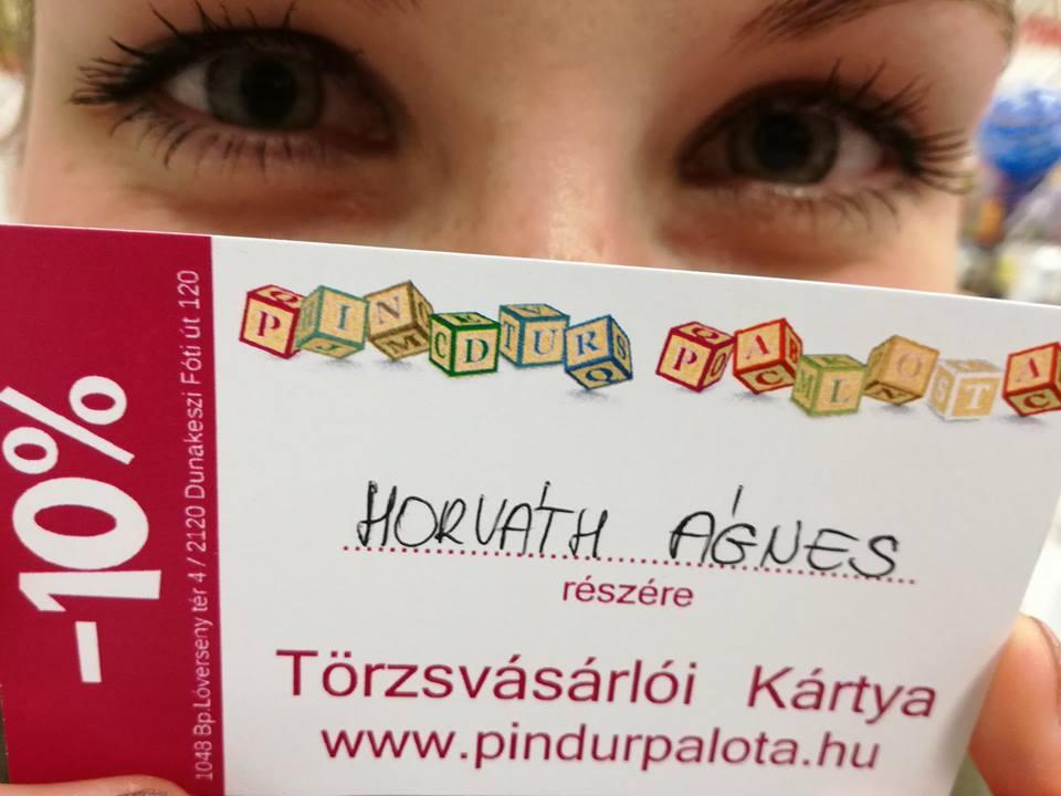 Pindur Palota törzsvásárlói kártya