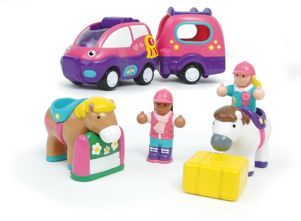 WOW Poppy lóstállító autója
