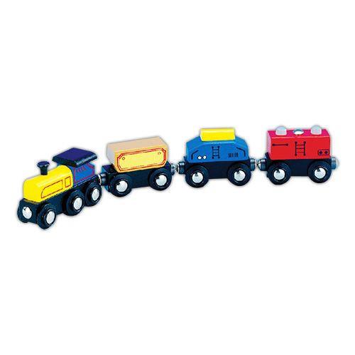 Vonat (kék,fülkés, 6632-F)