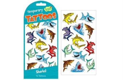 Matrica tetoválás cápák