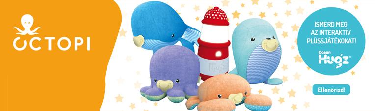 Octopi interaktív plüss állat család